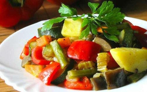 Овощи тушеные рецепт с фото