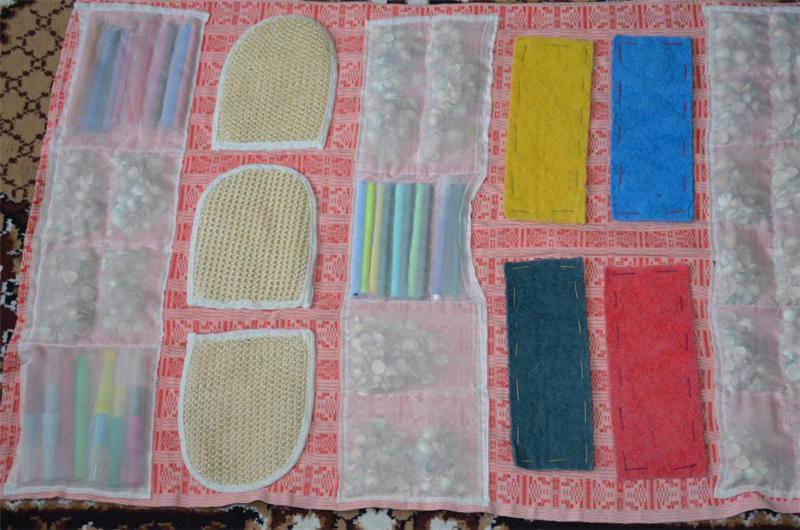Как сделать коврик от плоскостопия фото