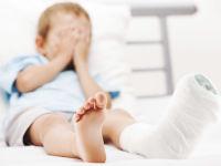 У ребенка перелом голени