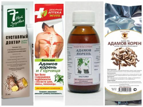 Аптечные препараты адамового корня