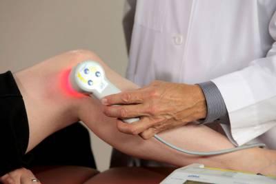 Физиолечение боли в колене