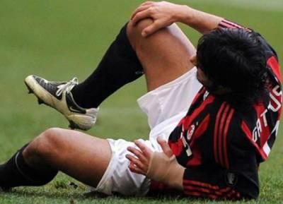 Травма колена у футболиста
