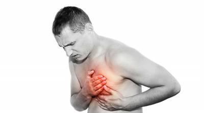 Боль в области сердца у мужчины