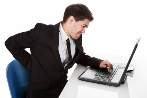 Боль в спине от работы за компьютером