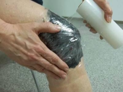 Глиняный компресс для колена