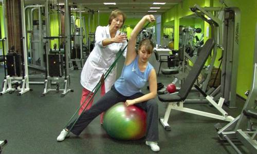 Сеанс лечебной гимнастики