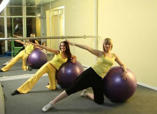 Лечебная гимнастика с фитболом