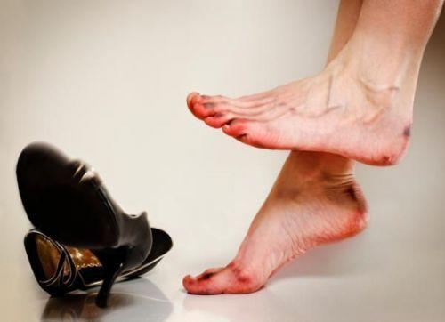 Боль после ношения неудобной обуви