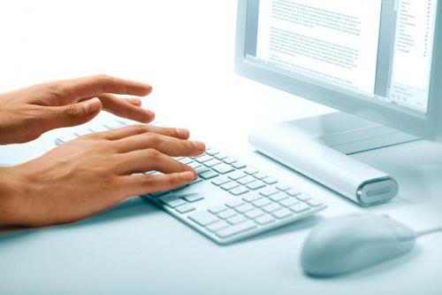 Работа за клавиатурой компьютера