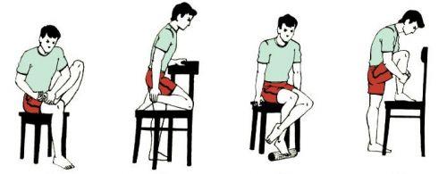 Упражнения сидя на стуле