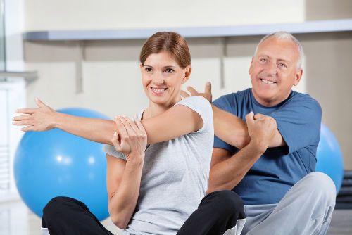 Гимнастика в спортзале