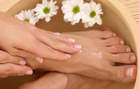 Травяная ванна для ног