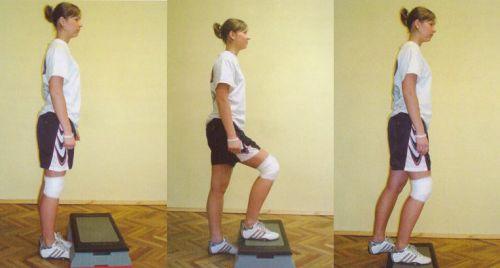 Упражнение на тренажере-степе