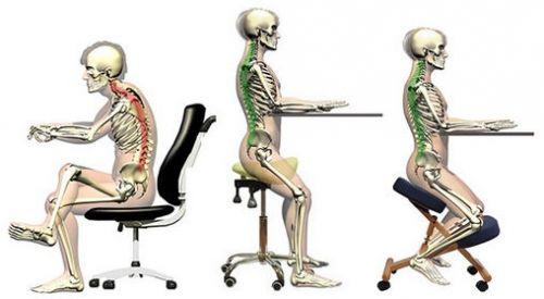 Сидение за ортопедическим стулом