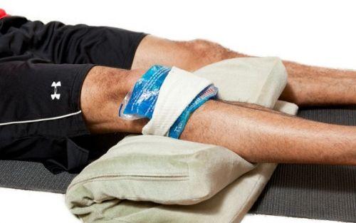 Холод, приложенный на колено