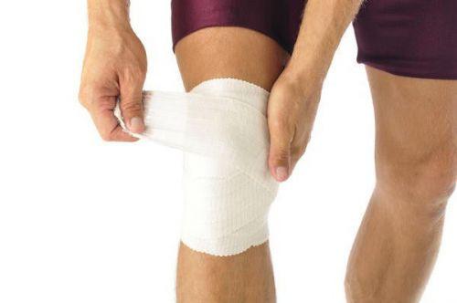 Бинтование колена