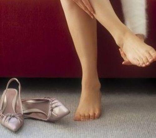 Ноги после снятия туфель