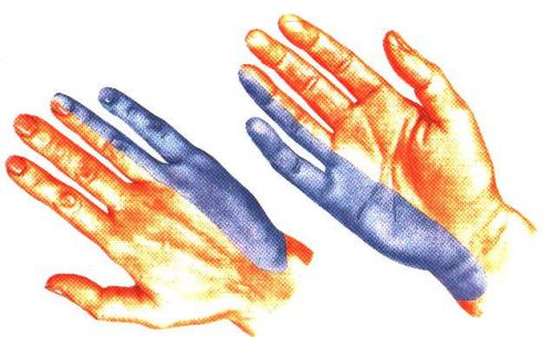 Синяя часть руки