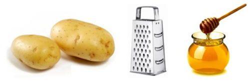 Картофель, мед, терка