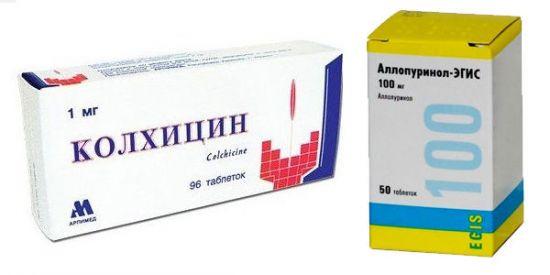 Колхицин и Аллопуринол