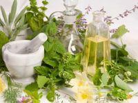 Лекарственные травы и ступка с пестиком