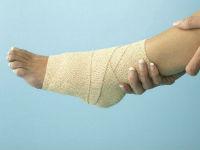Повязка на голеностопном суставе